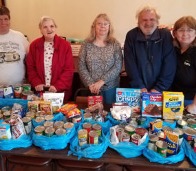 Ironton Estates Residents And Staff Collected 165 Non-perishable Items During A Food Drive For The Arcadia Valley Food Pantry. Pictured Above: Carrie Declue, Ellen Green, Lisa Nichols, Clarence Nash And Property Manager Tina Zangara.